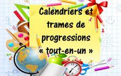 : des calendriers et des trames de progressions « tout-en-un Emc Cycle 3, Planning Annuel, Teacher Binder, Aide, Voici, Alternative, Articles, Calendar Templates, Classroom Management
