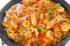 Receita de Paella de frutos do mar - Comida e Receitas Receita de Paella . Seafood Paella Recipe - Food and Recipes Seafood Paella recipe in crustacean recipes, see these and other recipes here! de frutos do mar Seafood Risotto, Seafood Paella, Seafood Appetizers, Paella Food, Shrimp Stew, Fish Stew, Fish Dishes, Seafood Dishes, Seafood Recipes