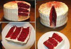 Triple Layer Red Velvet Cake - Compilation