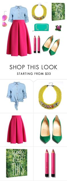 """""""Girl, You've got this!!"""" by angieberrys on Polyvore featuring Boohoo, Chicwish, Christian Louboutin, Bobbi Brown Cosmetics and Ray-Ban"""