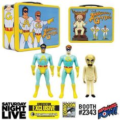 Saturday Night Live The Ambiguously Gay Duo and Bighead 3 3/4-Inch Figures in Tin Tote | Convention Exclusive