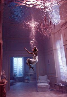 Falling... Underwater modeling