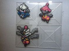 #307-#308 Meditite Family Perlers by TehMorrison