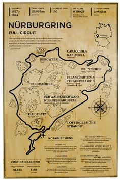 Nurburgring Full Circuit Wood Mural