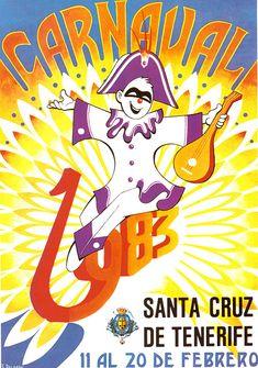 Cartel Carnaval Santa Cruz de Tenerife Año 1983