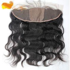 13x4 Cheap Silk Base Frontal Body Wave top grade Brazilian Virgin Human Hair Silk Lace Frontal Closure In Stock