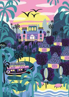 A3 Plakat LATIN NATURE von Marijke Buurlage  Teil einer illustrierten Serie auf…