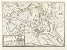 Anonymous   Kaart van de stad Namen met het kasteel, belegerd door het Franse leger, 1692, Anonymous, veuve du sr. Du-Val, Lodewijk XIV (koning van Frankrijk), 1692   Kaart van de stad Namen met het kasteel, belegerd door het Franse leger, 25 mei - 30 juni 1692.  Linksonder een inzet met een gezicht op stad en kasteel.