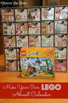 Savor The Days: Make Your Own LEGO Advent Calendar {LEGO Challenge...