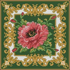Vintage Cross Stitches, Counted Cross Stitch Patterns, Cross Stitch Charts, Cross Stitch Designs, Cross Stitch Embroidery, Machine Embroidery, Cross Stitch Rose, Cross Stitch Flowers, Best Roses