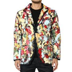 EVISU Evis Denim Jeans Painted STREET FASHION ART Yakuza Sukajan Skajan  Jacket 3f0f3d2f7d