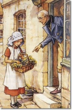 Artist: Cicely Mary Barker - Groundsel and Necklaces - Mr. Petercoo Painting