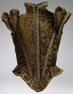 The Jerkin-Excerpt: 'The jerkin was a sleeveless vest or waistcoat worn as an outer garment. It would be worn over a a nobleman's doublet for propriety or over the shirt for a peasant. The doublet and jerkin can easily be confused, but the main difference Renaissance Mode, Renaissance Costume, Renaissance Fashion, Renaissance Clothing, Medieval Costume, Italian Renaissance, The Tudors, 16th Century Clothing, 16th Century Fashion
