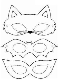 carnival mask molds - Eye Makeup tips Printable Halloween Masks, Printable Masks, Halloween Crafts, Printables, Halloween Kids, Diy For Kids, Crafts For Kids, Felt Crafts, Paper Crafts