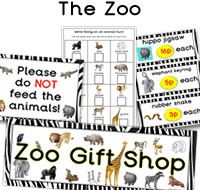 Zoo role play resources for the classroom. Also zoo gift shop resources. Lots of great zoo themed printables for your role play corner. Plus 1000s more educational resources available to download.