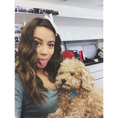 Chloe Bennet -- Tomorrow is the last day of shooting season 2 of Agents of Shield Arthur is exhausted.