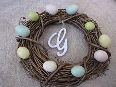Monogrammed Easter Wreath