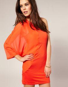 Vero Moda Chiffon One Sleeve Dress, £22