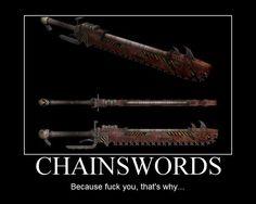 Chain swords...