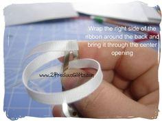 Ribbon wrapped snap clips instruction