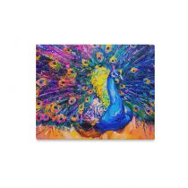 InterestPrint Oil Painting Peacock Colorful Modern Art Canvas Wall Art Print Painting Wall Hanging Artwork for Home Decoration