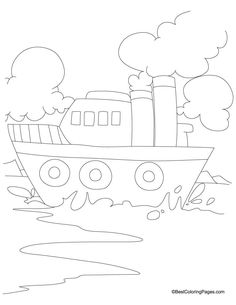 Ship Coloring Page 5