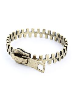 Zip Retro Metal Bracelet - Accessory - Retro, Indie and Unique Fashion