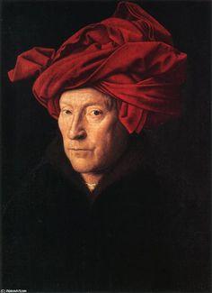 Jan van Eyck: Ritratto di uomo con turbante rosso, 1433, olio su tavola, Londra, National Gallery   Pearltrees
