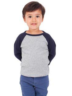 $13 American Apparel - Kids Baby Rib 3/4 Sleeve Raglan