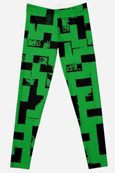 Line Art - The Bricks, tetris style, green and black by cool-shirts   Also Available as T-Shirts & Hoodies, Men's Apparels, Women's Apparels, Stickers, iPhone Cases, Samsung Galaxy Cases, Posters, Home Decors, Tote Bags, Pouches, Prints, Cards, Mini Skirts, Scarves, iPad Cases, Laptop Skins, Drawstring Bags, Laptop Sleeves, and Stationeries #style #leggings #design #green #geometric