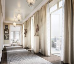 Another day, another over-the-top penthouse created by a starchiect makes its debut on the real estate market. This time it's actually two...