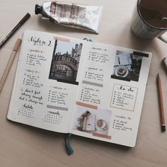 bullet, journal, and organizar Bild
