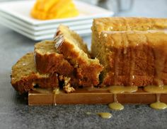 Glazed Mango Bread