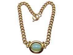 Feel like Liz Taylor when wearing this chunky vintage necklace.  The color is gorgeous ocean blue; lovely like her eyes.
