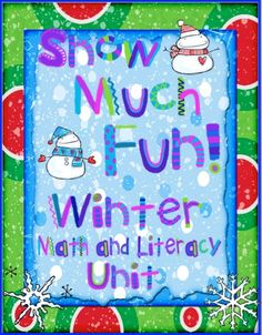Buggy for First Grade : Winter is Snow Much Fun Literacy and Math Unit.....Giveaway  Come follow me to win!