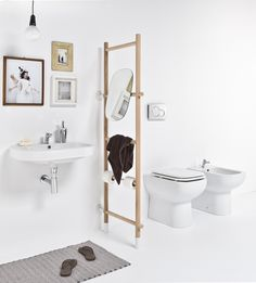 Shop online the complete collection of products EVER Life Design. Select the best offers by Bathroom fixtures and accessories and discover all the promotions on EVER Life Design products. Bathroom Ladder, Laundry In Bathroom, Small Bathroom, Rental Bathroom, Bathroom Tubs, Diy Bathroom, Bathroom Ideas, Toilette Design, Modern Master Bathroom