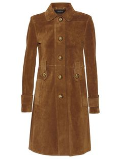 0880ba1c8 Gucci Suede trench coat | NET-A-PORTER Suede Trench Coat, Brown Trench