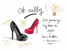 Vuitton Oh really! S/S13.   #fashion #illustration Open Toe - Opentoeillustration.com