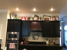 Find This Pin And More On Kitchen Cabinet Decorating Ideas Above Cabinet Decor