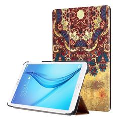 For+Tab+E+8.0+Painting+Custer+Texture+Flip+Leather+Case+with+3+Fold+Holder