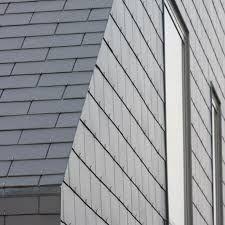 Fibre cement roofing / slate look BORONDA Eternit Roof Tiles, Cement, Slate, Garage Doors, Stairs, Exterior, Metal, Outdoor Decor, Facades