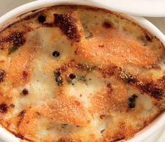 Pasticcio di lasagne, robiola e salmone affumicato