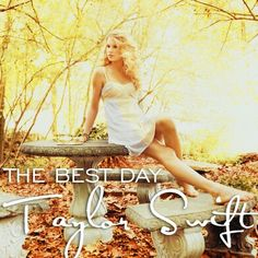 Song #3 - The Best Day by Taylor Swift. My mom is always there for me, always a friend, always giving advice, always being a shoulder to cry on, never once letting me down. My dad? Well, he's an excellent father. ;)