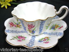 ROYAL STUART FAIRY SHAPE OTES PATTERN TEA CUP AND SAUCER DUO
