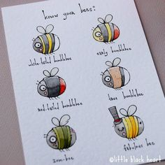 bee guide - original illustration (A5) by Little Black Heart