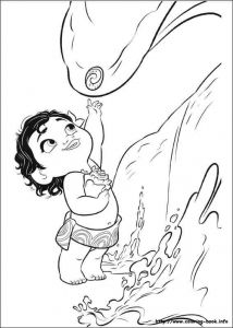 Little Moana Disney Coloring Pages Printable And Book To Print For Free Find More Online Kids Adults Of