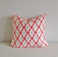 Coral Teal Decorative Pillow Cover 18x18 by IndigoBlissBoutique, $30.00