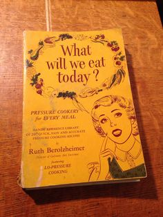 Antique Vintage Cookbook What Will We Eat by LooseChipsWoodWork