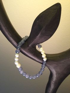 Small grey Malaysia jade pearl and sparkling silver by by2y