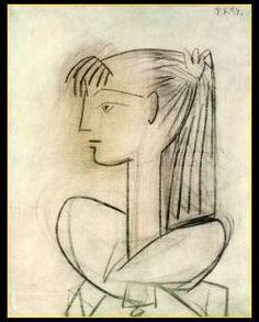 Picasso- Sylvette David http://www.pinterest.com/andrewortonart/picasso-drawings/